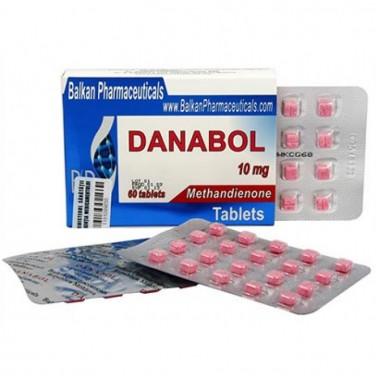 Danabol Данабол Метандиенон Метан 10 мг, 100 таблеток, Balkan Pharmaceuticals в Кокшетау